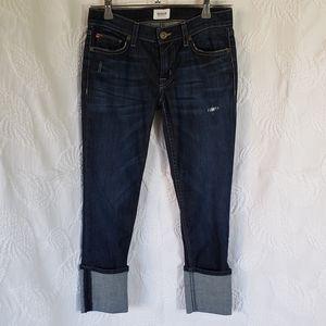 Hudson skinny capri jeans wide hem 25